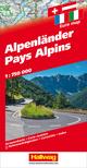 Alpenländer Strassenkarte 1:750 000