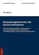 Bewertungskriterien von Social Enterprises