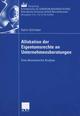 Allokation der Eigentumsrechte an Unternehmensberatungen