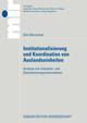 Institutionalisierung und Koordination von Auslandseinheiten