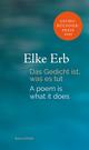 Das Gedicht ist, was es tut/A poem is what it does