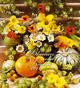 Blumen und Früchte