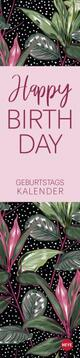 'Happy Birthday' Tropical Leaves Geburtstagskalender long