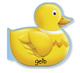 Schwimm-Leporello Ente