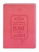 Terminplaner Lederlook A6 'Flamingo: Sei realistisch. Plane ein Wunder' 2019