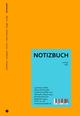 Wende-Notizbuch orange-blau