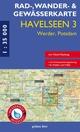 Rad-, Wander- und Gewässerkarte Havelseen 3: Werder, Potsdam