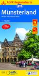 ADFC-Regionalkarte Münsterland mit Tagestouren-Vorschlägen, 1:75.000, reiß- und wetterfest, GPS-Tracks Download