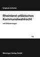 Rheinland-pfälzisches Kommunalwahlrecht 2019