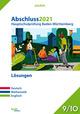 Abschluss 2021 - Hauptschulprüfung Baden-Württemberg - Lösungen