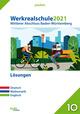 Werkrealschule 2021 - Mittlerer Abschluss Baden-Württemberg Lösungen