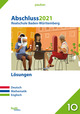 Abschluss 2021 - Realschule Baden-Württemberg Lösungen