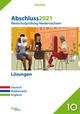 Abschluss 2021 - Realschulprüfung Niedersachsen Lösungen