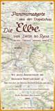 Die Elbe. Panoramakarte aus der Vogelschau.