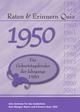 Raten 6 Erinnern Quiz 1950