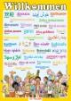 Multilinguales LernPOSTER 'Willkommen'