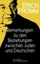 Bemerkungen zu den Beziehungen zwischen Juden und Deutschen