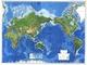 Physikalische Weltkarte mit Pazifik-Ansicht