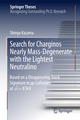 Search for Charginos Nearly Mass-Degenerate with the Lightest Neutralino