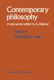 Volume 4: Philosophy of Mind