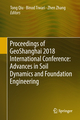 Proceedings of GeoShanghai 2018 International Conference: Advances in Soil Dynamics and Foundation Engineering